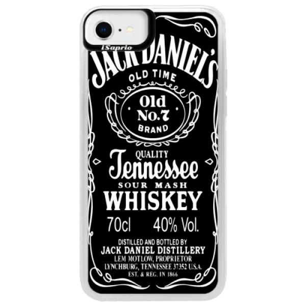 Neonové pouzdro Pink iSaprio - Jack Daniels - iPhone SE 2020