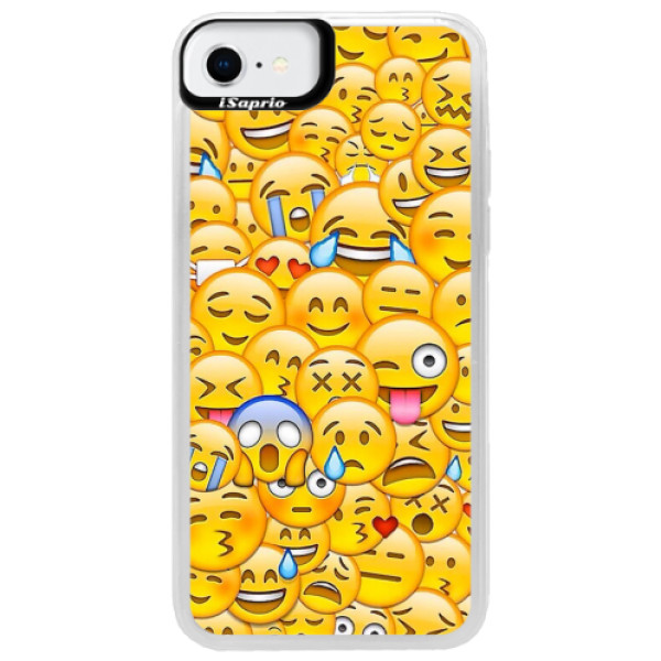 Neonové pouzdro Pink iSaprio - Emoji - iPhone SE 2020