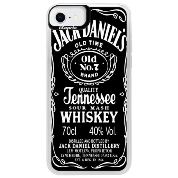 Neonové pouzdro Blue iSaprio - Jack Daniels - iPhone SE 2020