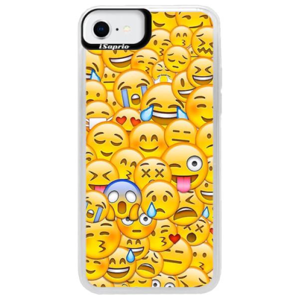 Neonové pouzdro Blue iSaprio - Emoji - iPhone SE 2020