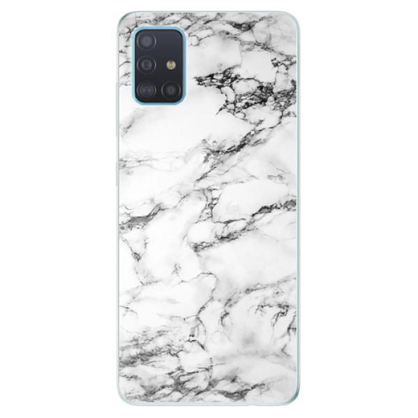 Odolné silikonové pouzdro iSaprio - White Marble 01 - Samsung Galaxy A51