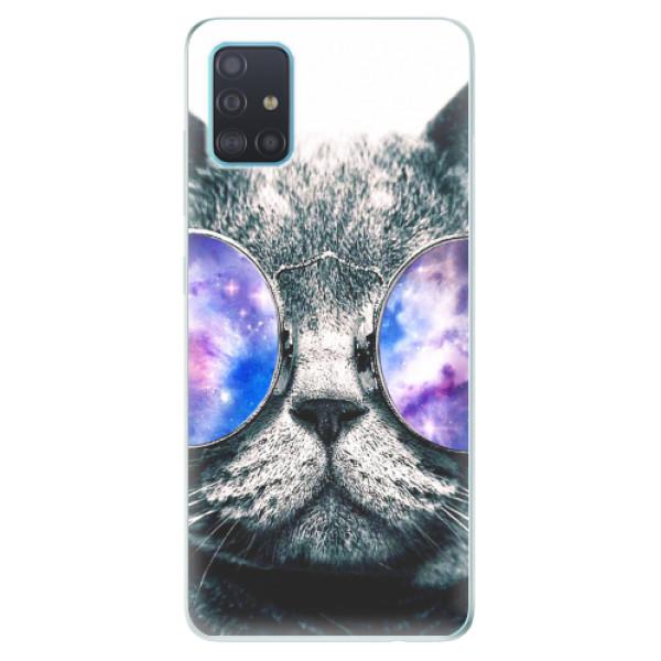 Odolné silikonové pouzdro iSaprio - Galaxy Cat - Samsung Galaxy A51