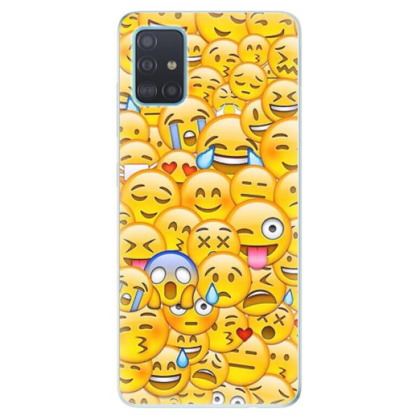 Odolné silikonové pouzdro iSaprio - Emoji - Samsung Galaxy A51