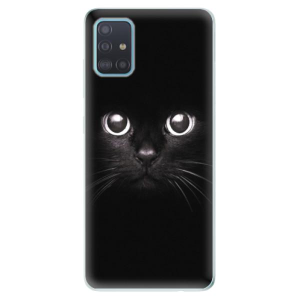 Odolné silikonové pouzdro iSaprio - Black Cat - Samsung Galaxy A51