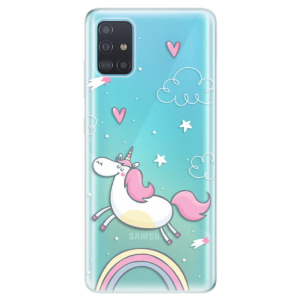 Odolné silikonové pouzdro iSaprio - Unicorn 01 - Samsung Galaxy A51