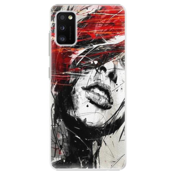 Plastové pouzdro iSaprio - Sketch Face - Samsung Galaxy A41