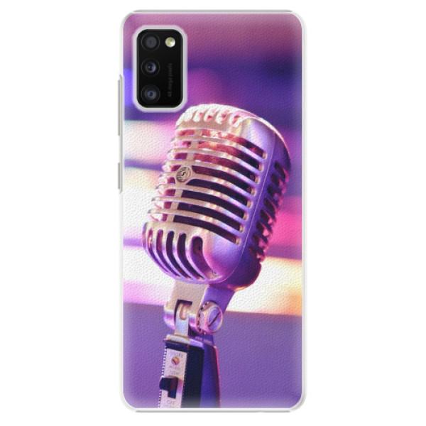 Plastové pouzdro iSaprio - Vintage Microphone - Samsung Galaxy A41