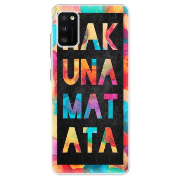 Plastové pouzdro iSaprio - Hakuna Matata 01 - Samsung Galaxy A41