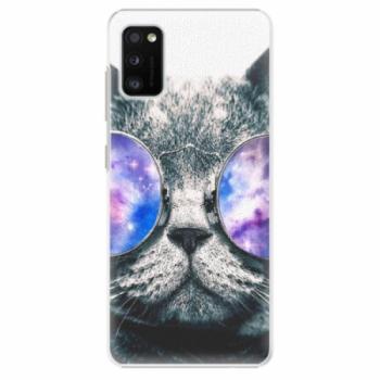 Plastové pouzdro iSaprio - Galaxy Cat - Samsung Galaxy A41
