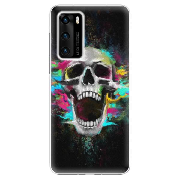 Plastové pouzdro iSaprio - Skull in Colors - Huawei P40