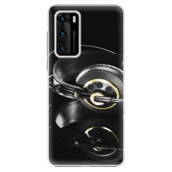 Plastové pouzdro iSaprio - Headphones 02 - Huawei P40