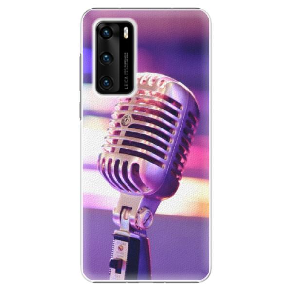 Plastové pouzdro iSaprio - Vintage Microphone - Huawei P40