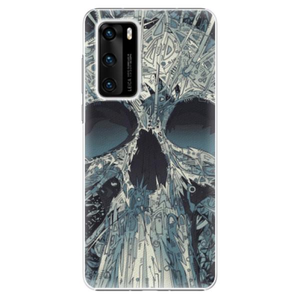 Plastové pouzdro iSaprio - Abstract Skull - Huawei P40