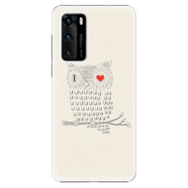 Plastové pouzdro iSaprio - I Love You 01 - Huawei P40