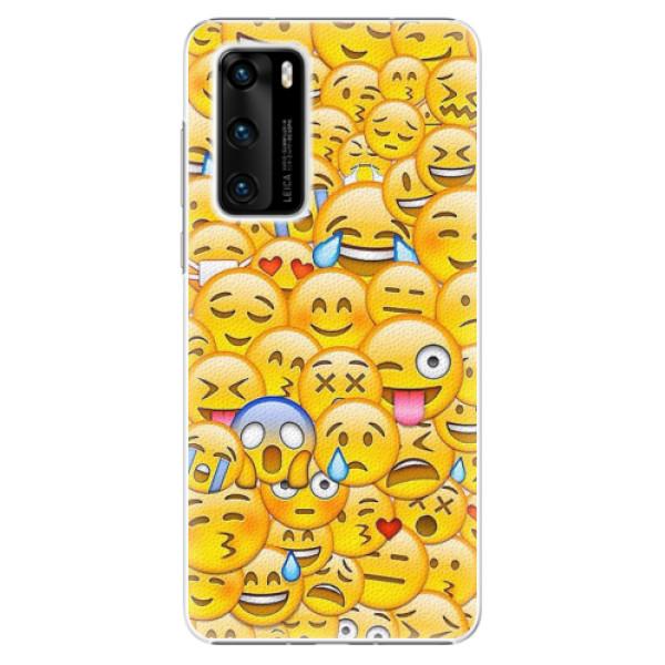 Plastové pouzdro iSaprio - Emoji - Huawei P40