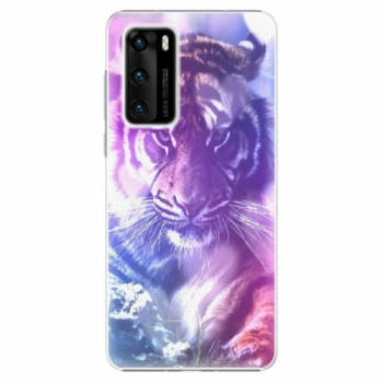 Plastové pouzdro iSaprio - Purple Tiger - Huawei P40