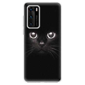 Plastové pouzdro iSaprio - Black Cat - Huawei P40