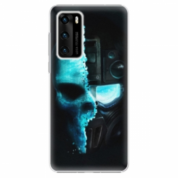 Plastové pouzdro iSaprio - Roboskull - Huawei P40