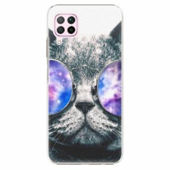 Plastové pouzdro iSaprio - Galaxy Cat - Huawei P40 Lite