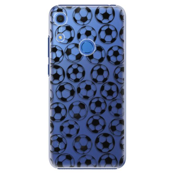 Plastové pouzdro iSaprio - Football pattern - black - Huawei Y6s