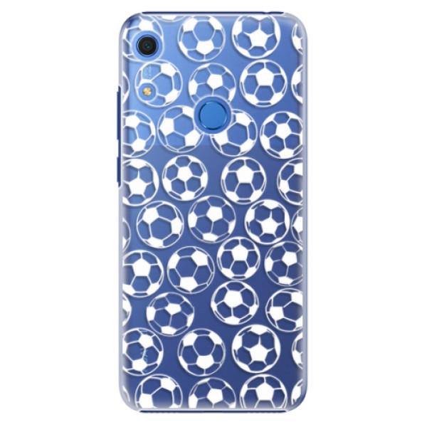 Plastové pouzdro iSaprio - Football pattern - white - Huawei Y6s