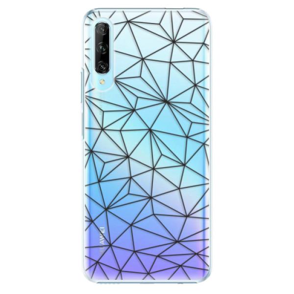 Plastové pouzdro iSaprio - Abstract Triangles 03 - black - Huawei P Smart Pro
