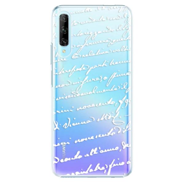Plastové pouzdro iSaprio - Handwriting 01 - white - Huawei P Smart Pro