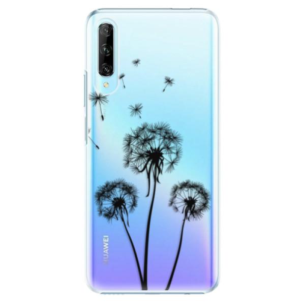 Plastové pouzdro iSaprio - Three Dandelions - black - Huawei P Smart Pro