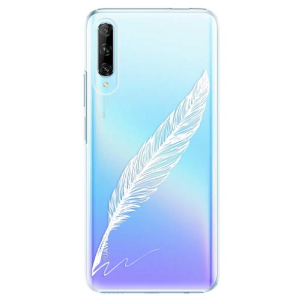 Plastové pouzdro iSaprio - Writing By Feather - white - Huawei P Smart Pro