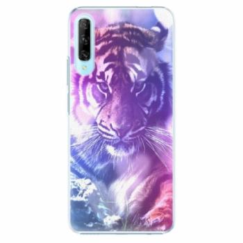 Plastové pouzdro iSaprio - Purple Tiger - Huawei P Smart Pro