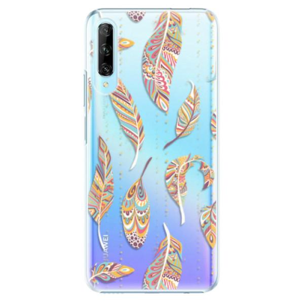 Plastové pouzdro iSaprio - Feather pattern 02 - Huawei P Smart Pro