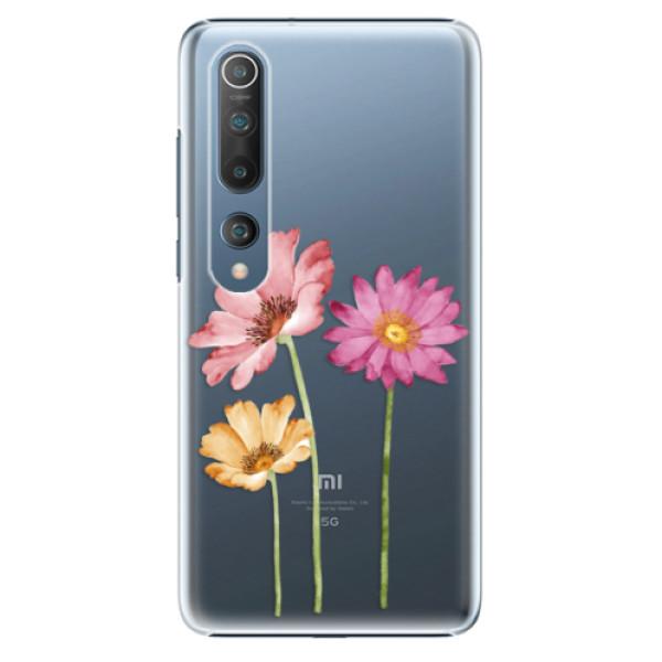 Plastové pouzdro iSaprio - Three Flowers - Xiaomi Mi 10 / Mi 10 Pro