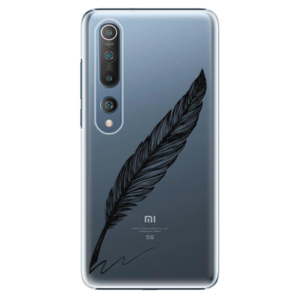 Plastové pouzdro iSaprio - Writing By Feather - black - Xiaomi Mi 10 / Mi 10 Pro