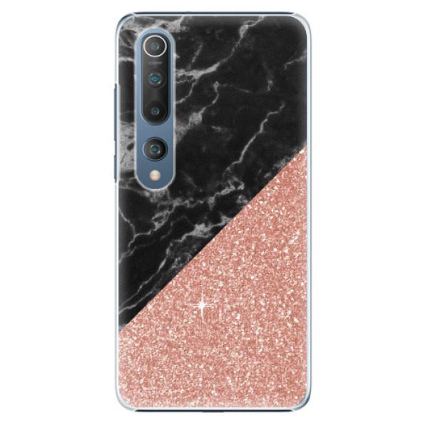 Plastové pouzdro iSaprio - Rose and Black Marble - Xiaomi Mi 10 / Mi 10 Pro