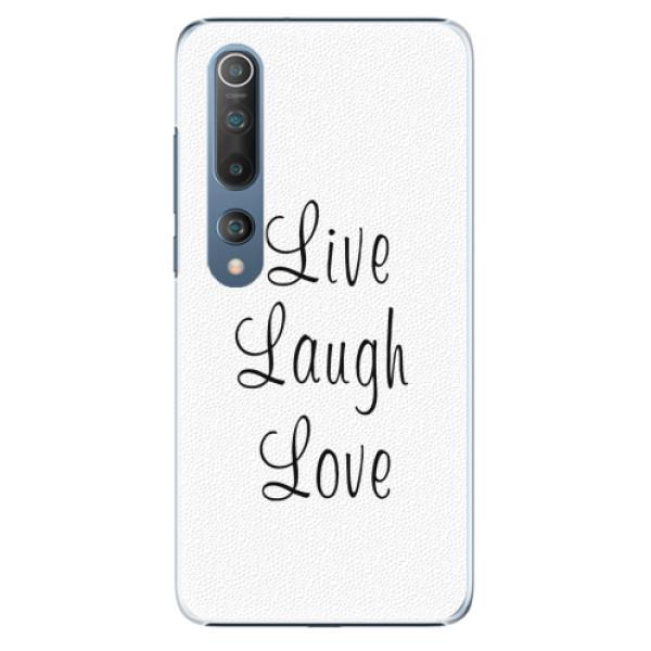 Plastové pouzdro iSaprio - Live Laugh Love - Xiaomi Mi 10 / Mi 10 Pro