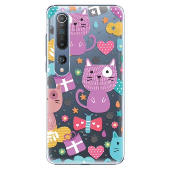 Plastové pouzdro iSaprio - Cat pattern 01 - Xiaomi Mi 10 / Mi 10 Pro