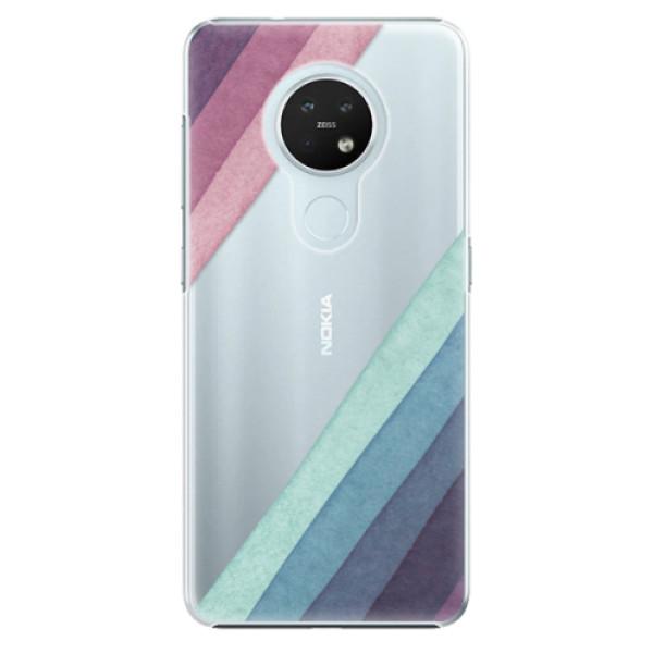 Plastové pouzdro iSaprio - Glitter Stripes 01 - Nokia 7.2