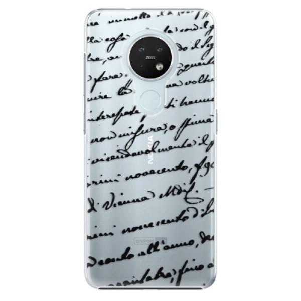 Plastové pouzdro iSaprio - Handwriting 01 - black - Nokia 7.2