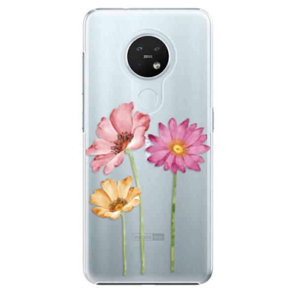 Plastové pouzdro iSaprio - Three Flowers - Nokia 7.2
