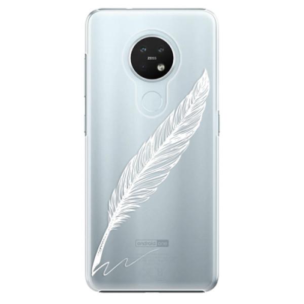 Plastové pouzdro iSaprio - Writing By Feather - white - Nokia 7.2