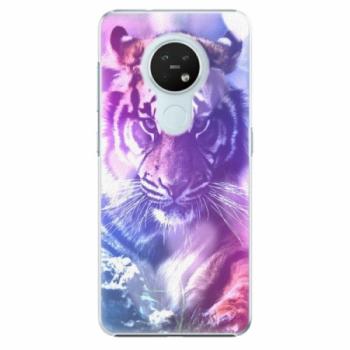 Plastové pouzdro iSaprio - Purple Tiger - Nokia 7.2