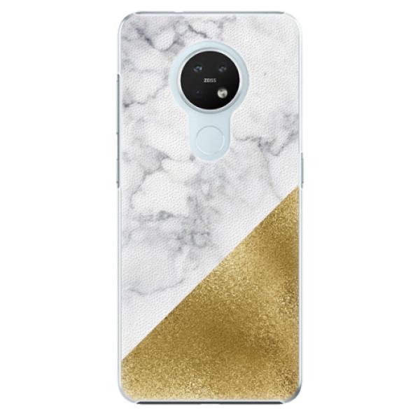 Plastové pouzdro iSaprio - Gold and WH Marble - Nokia 7.2