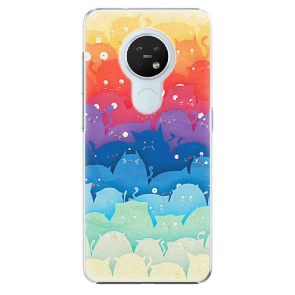 Plastové pouzdro iSaprio - Cats World - Nokia 7.2