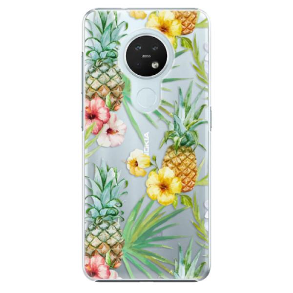 Plastové pouzdro iSaprio - Pineapple Pattern 02 - Nokia 7.2
