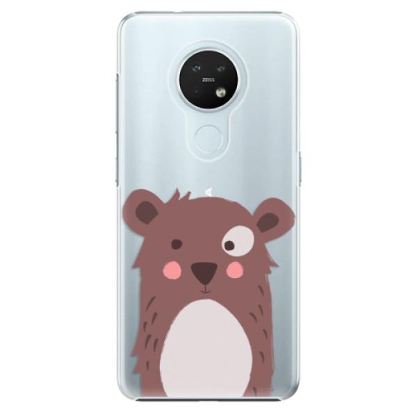 Plastové pouzdro iSaprio - Brown Bear - Nokia 7.2