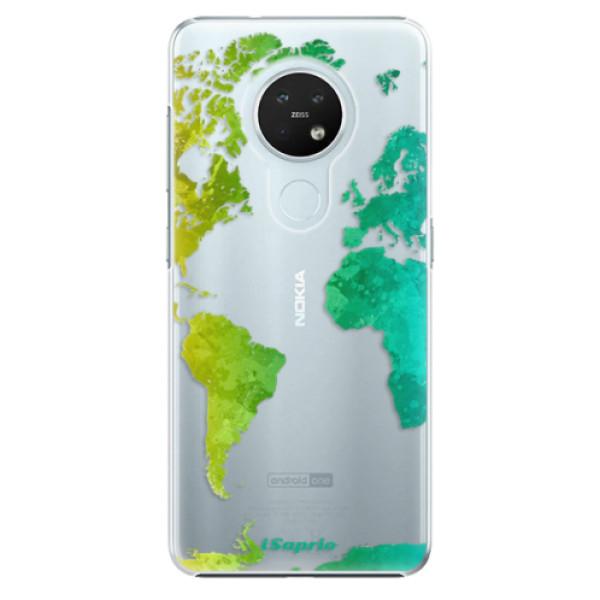 Plastové pouzdro iSaprio - Cold Map - Nokia 7.2