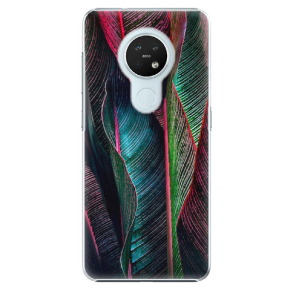 Plastové pouzdro iSaprio - Black Leaves - Nokia 7.2