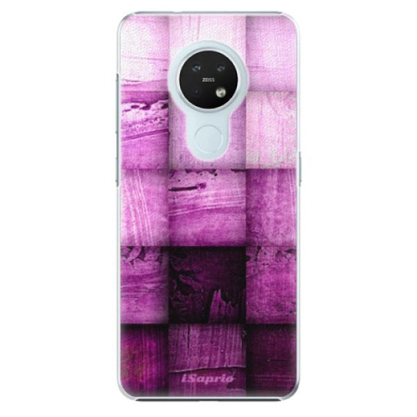 Plastové pouzdro iSaprio - Purple Squares - Nokia 7.2
