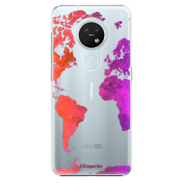 Plastové pouzdro iSaprio - Warm Map - Nokia 7.2