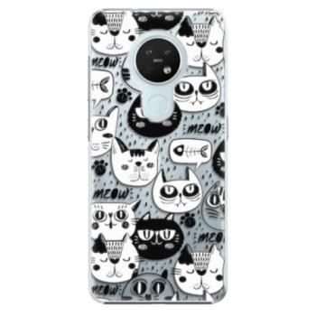 Plastové pouzdro iSaprio - Cat pattern 03 - Nokia 7.2